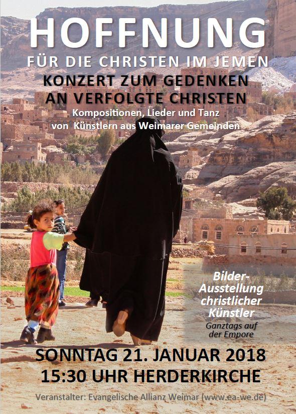 Flyer Konzert für verfolgte Christen 2018 Weimar V2