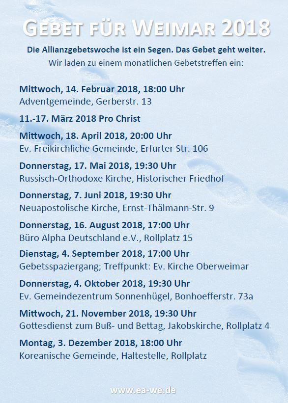 Gebet für Weimar 2018