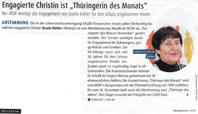 Thüringerin des Monats - Idea